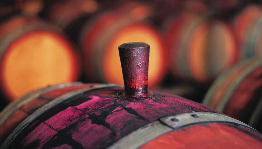 Top of Wine Barrel
