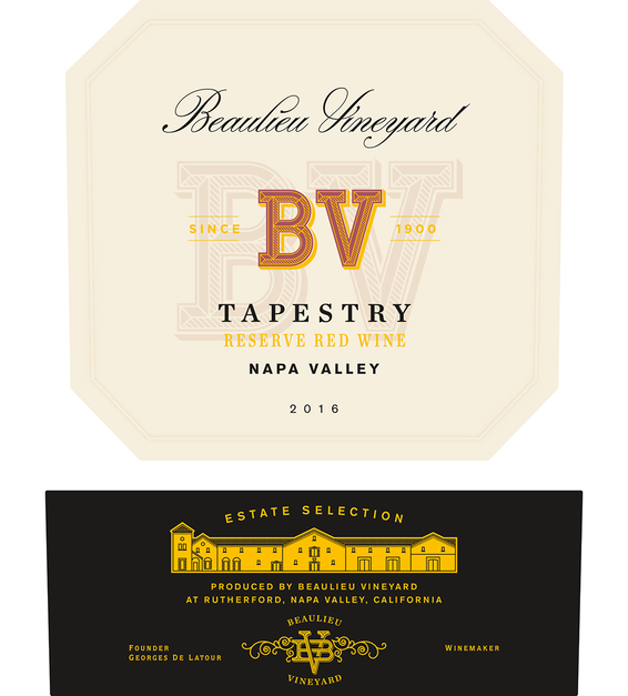 2016 Beaulieu Vineyard Reserve Tapestry Napa Valley Red Blend Front Label