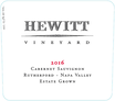 8018431-2016-Hewitt-Rutherford-Cabernet-Sauvignon-Front Label, image 2