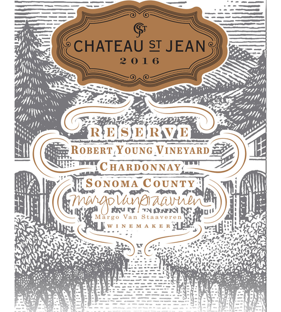 2016 Chateau St. Jean Robert Young Vineyard Reserve Alexander Valley Chardonnay Front Label