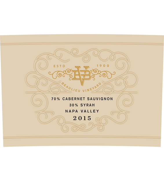 2015 Beaulieu Vineyard Maestro Reserve Napa Valley Cab/Syrah Blend Front Label