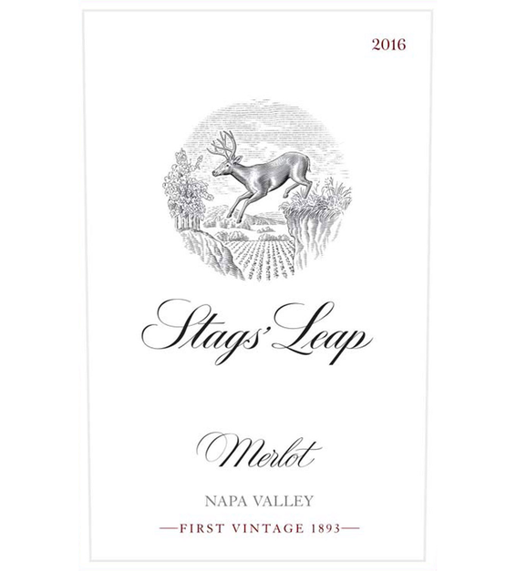 2016 Stags' Leap Napa Valley Merlot Front Label