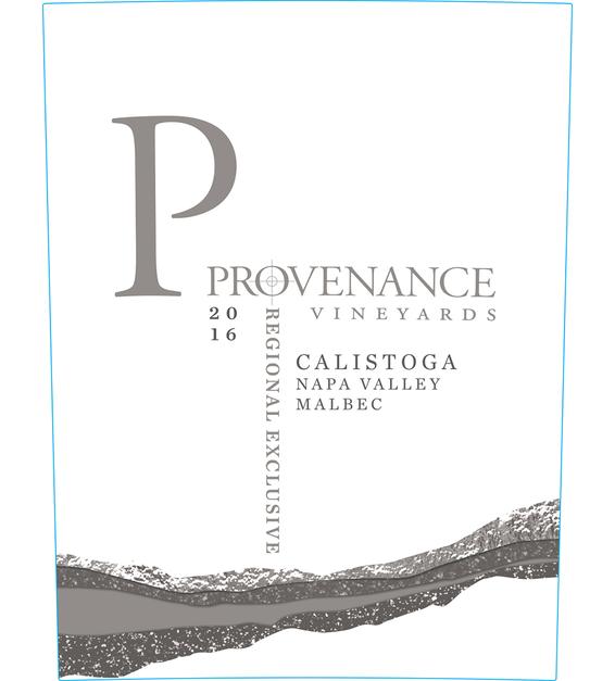 2016 Provenance Vineyards Calistoga Malbec Front Label