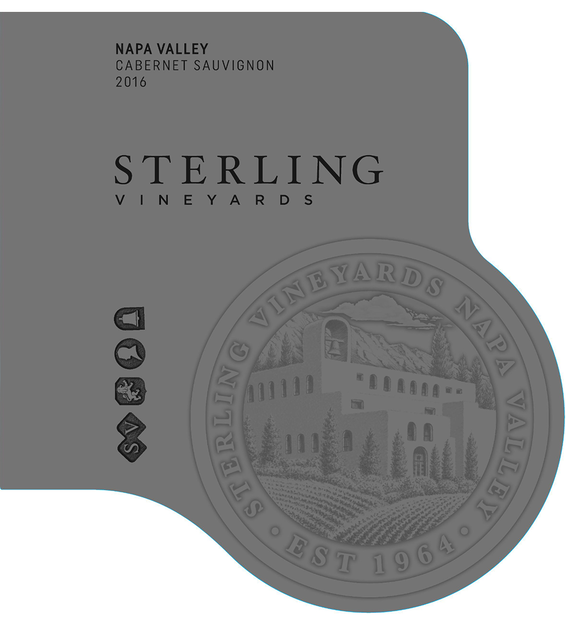 2016 Sterling Vineyards Napa Valley Cabernet Sauvignon Front Label