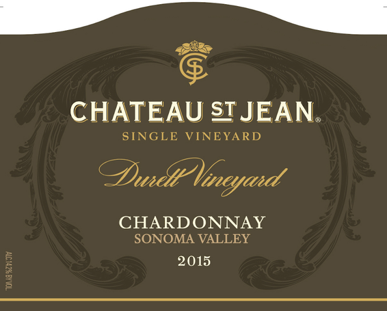 2015 Chateau St. Jean Durell Vineyard Sonoma Valley Chardonnay Front Label
