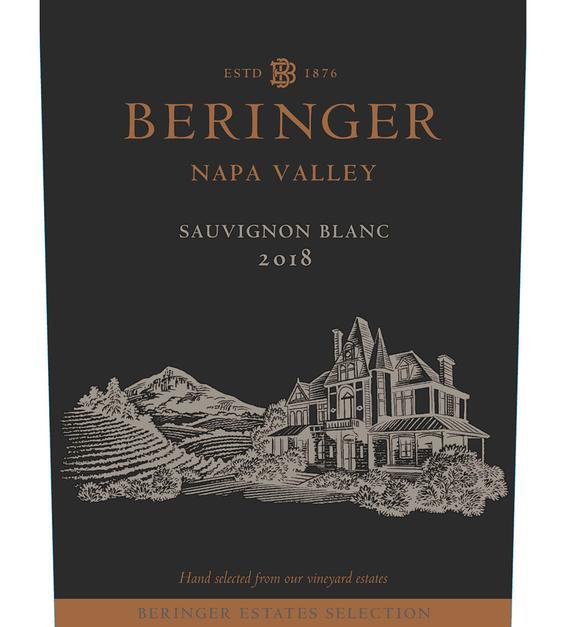 2018 Beringer Winery Exclusive Sauvignon Blanc Napa Valley Front Label