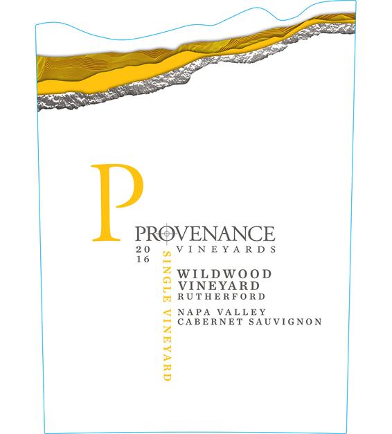 2016 Provenance Vineyards Wildwood Vineyard Rutherford Cabernet Sauvignon Front Label