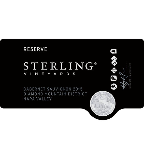 2015 Sterling Vineyards Diamond Mountain District Napa Valley Cabernet Sauvignon Front Label