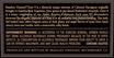 2013 Beaulieu Vineyard Clone 4 Rutherford Cabernet Sauvignon Back Label