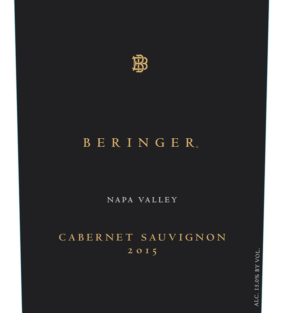 2015 Beringer Distinction Series Napa Valley Cabernet Sauvignon Front Label