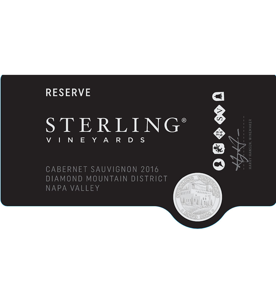 2016 Sterling Vineyards Diamond Mountain District Napa Valley Cabernet Sauvignon Front Label