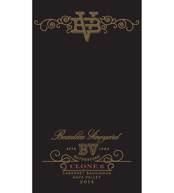 2014 Beaulieu Vineyard Reserve Clone 6 Rutherford Cabernet Sauvignon Front Label