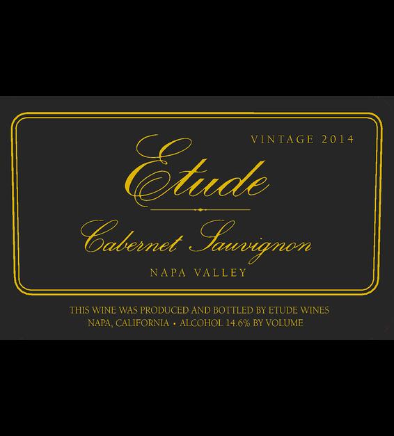 Etude 2014 Napa Valley Cabernet Sauvignon Front Label