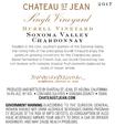 2017 Chateau St. Jean Durell Vineyard Sonoma Valley Chardonnay Back Label, image 3