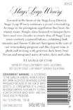2017 Stags' Leap Cabernet Back Label, image 3