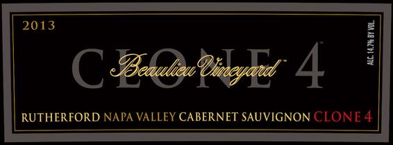 2013 Beaulieu Vineyard Clone 4 Rutherford Cabernet Sauvignon Front Label