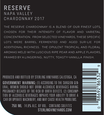2017 Sterling Vineyards Reserve Napa Valley Chardonnay Back Label, image 3