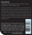 2016 Sterling Vineyards Diamond Mountain District Napa Valley Cabernet Sauvignon Back Label, image 3