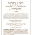 2016 Chateau St. Jean Robert Young Vineyard Reserve Alexander Valley Chardonnay Back Label, image 3