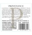 2015 Provenance Vineyards Napa Valley Cabernet Franc Back Label, image 3