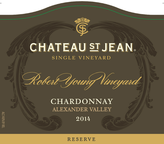 2014 Chateau St. Jean Robert Young Vineyard Reserve Chardonnay Front Label