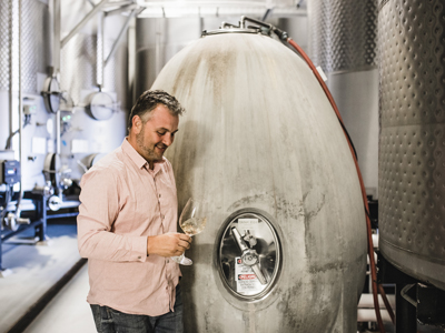 Winemaker David Galzignato